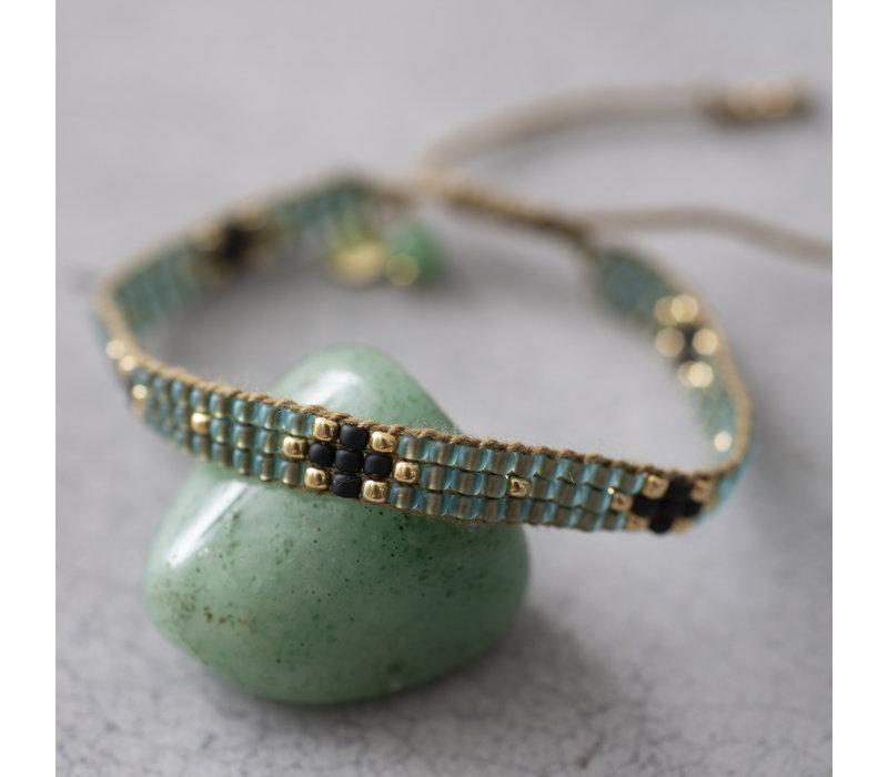 A Beautiful Story Summerlight Gouden Armband - Aventurijn