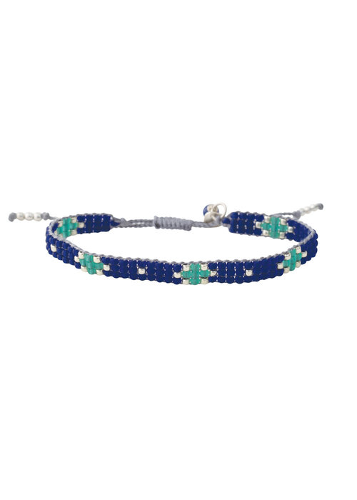A Beautiful Story A Beautiful Story Summerlight Zilveren Armband - Lapis Lazuli