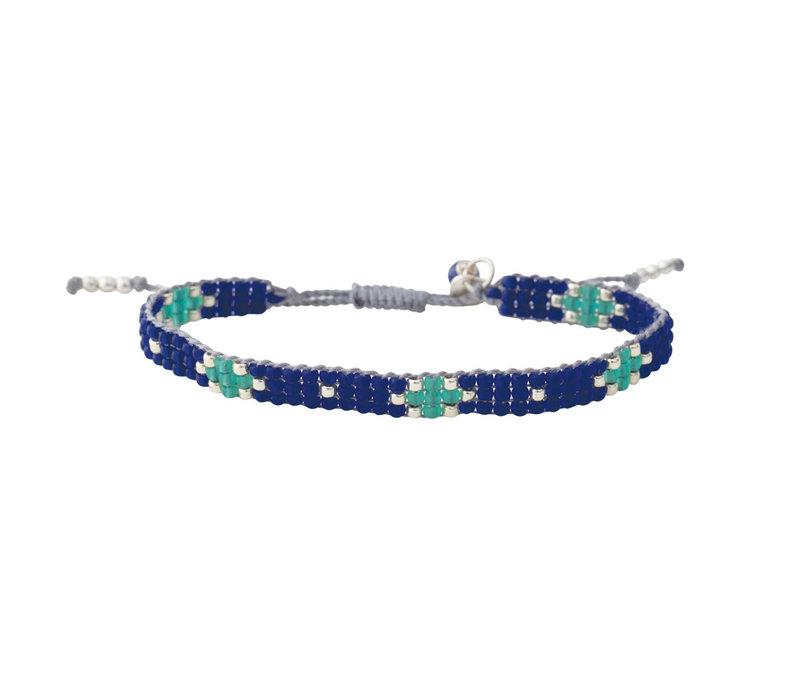 A Beautiful Story Summerlight Silber Armband - Lapis Lazuli