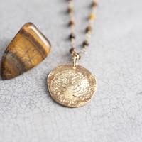A Beautiful Story Rosary Gouden Ketting Boom - Tijgeroog