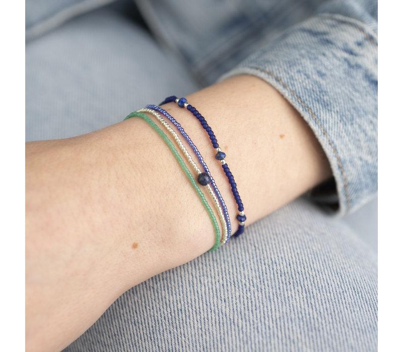 A Beautiful Story Bloom Silver Bracelet - Lapis Lazuli