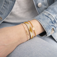 A Beautiful Story Flare Gold Bracelet - Citrine