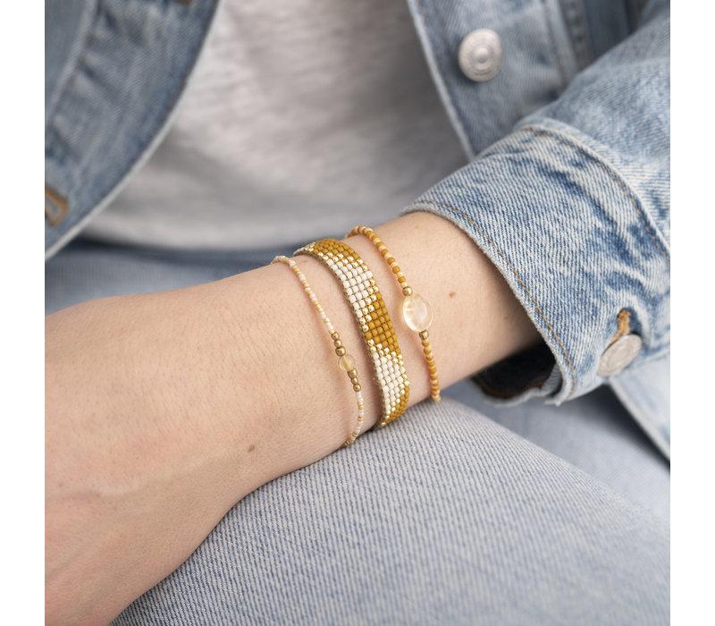 A Beautiful Story Flare Goldenes Armband - Citrin