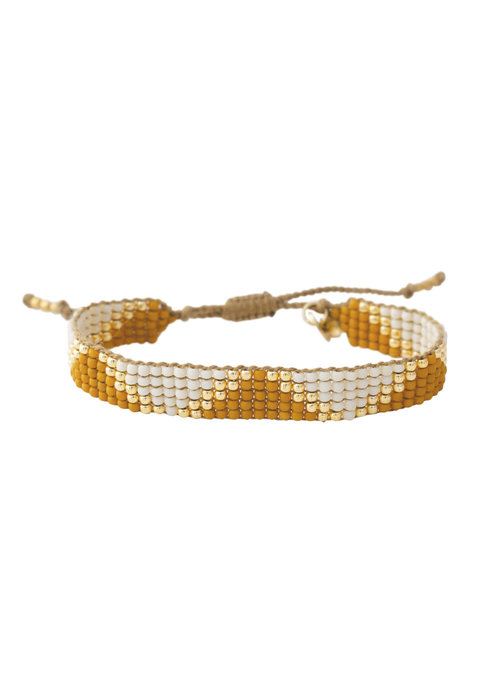 A Beautiful Story A Beautiful Story Flare Gouden Armband - Citrien