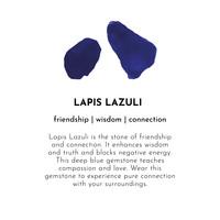A Beautiful Story Iris Silber Armband - Lapis Lazuli