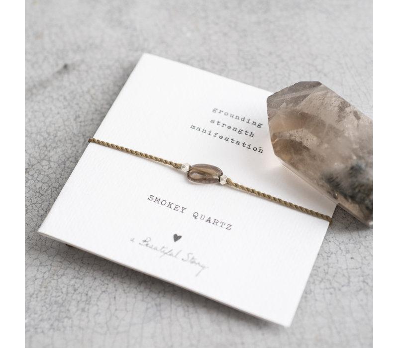 A Beautiful Story Edelstein Karte - Rauchquarz Goldenes Armband