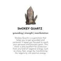 A Beautiful Story Edelsteen Kaart - Smokey Quartz Silver Bracelet