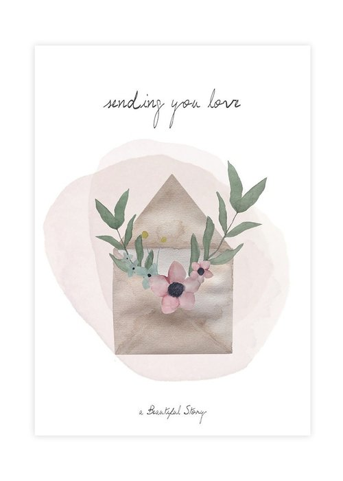 A Beautiful Story A Beautiful Story Greeting Card - Love Watercolour