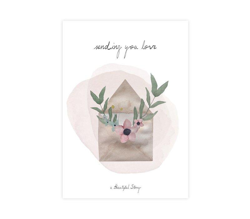 A Beautiful Story Ansichtkaart - Love