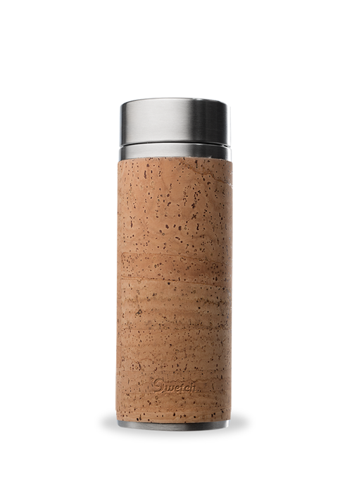 Qwetch Qwetch Tea Travel Thermos Glass - Cork Collection