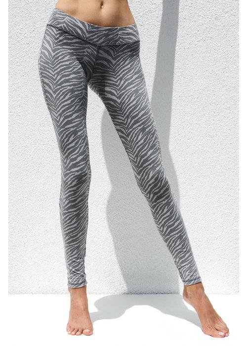 Funky Simplicity Funky Simplicity High Waist Legging - Grey Zebra