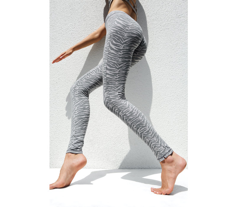 Funky Simplicity High Waist Legging - Grey Zebra