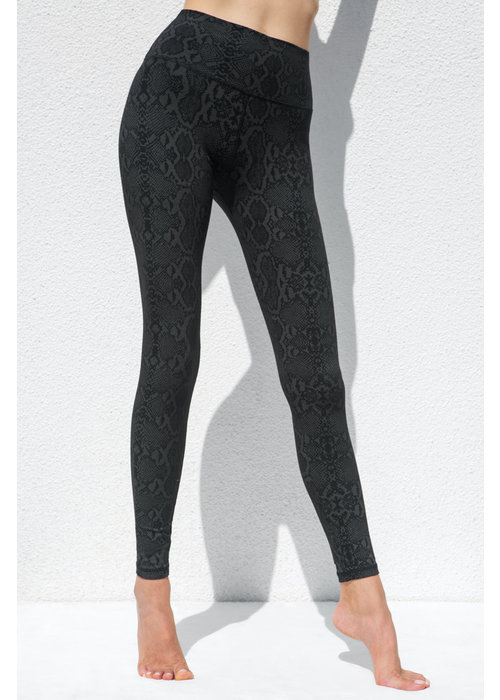 Funky Simplicity Funky Simplicity High Waist Legging - Black Green Snake