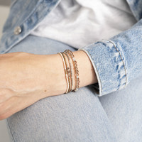 A Beautiful Story Gentle Zilveren Armband - Rookkwarts