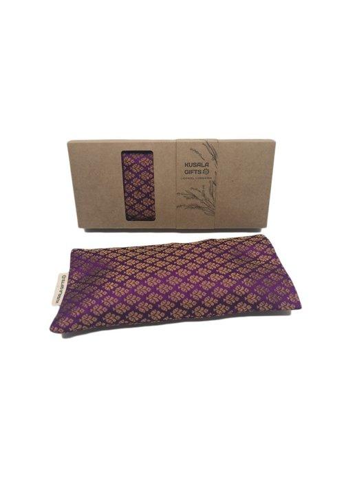 Kusala Kusala Eye Pillow Silk - Kampala Purple