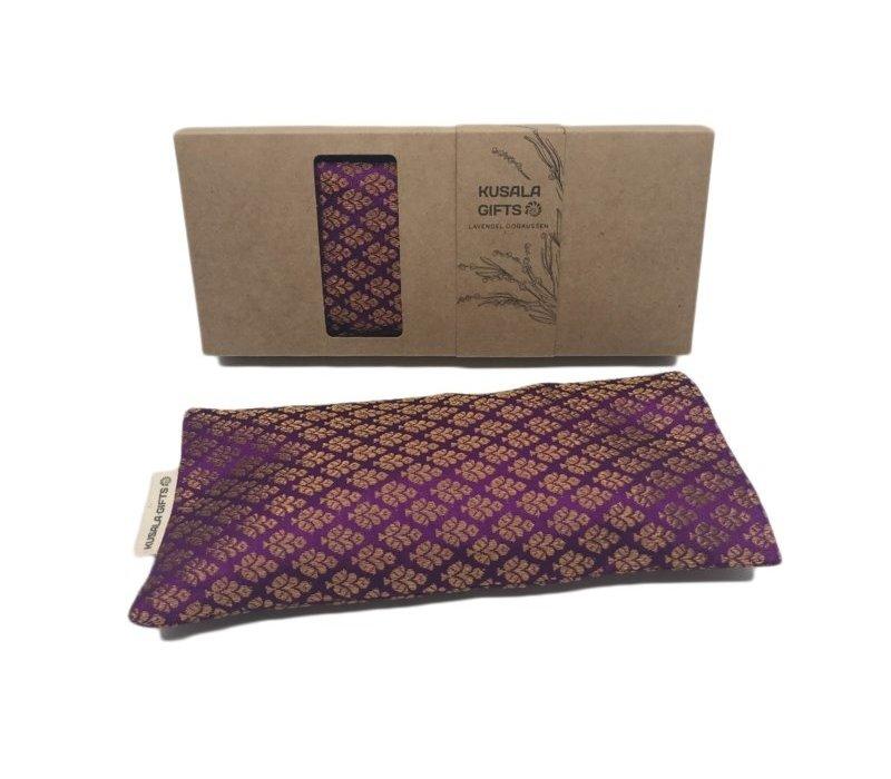 Kusala Eye Pillow Silk - Kampala Purple