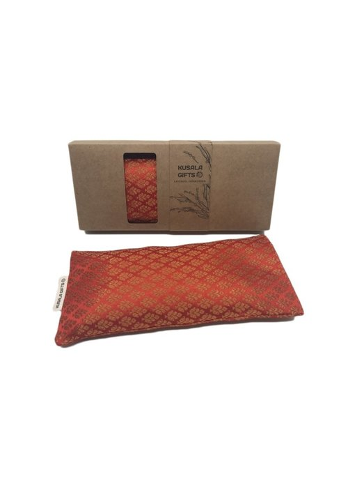 Kusala Kusala Eye Pillow Silk - Delhi Orange