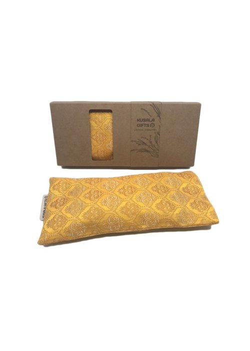 Kusala Kusala Eye Pillow Silk - Frankfurt Yellow