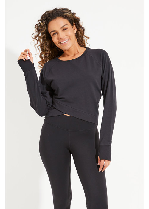 Dharma Bums Dharma Bums Arcadia Crop Sweat - Black
