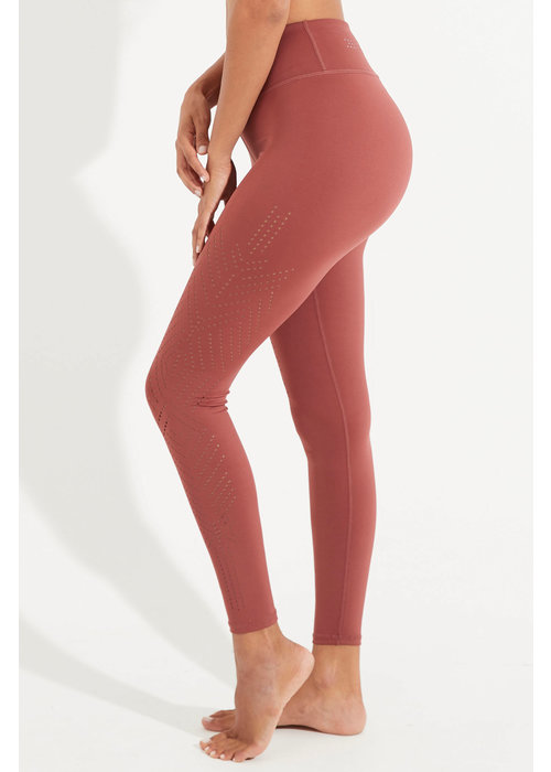 Dharma Bums Dharma Bums Solace Laser 7/8 Yoga Legging - Rustic