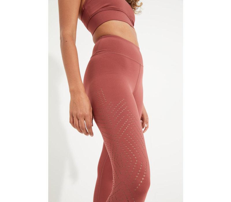 Dharma Bums Solace Laser 7/8 Yoga Legging - Rustic