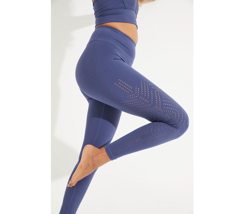 Dharma Bums Solace Laser 7/8 Yoga Legging - Indigo
