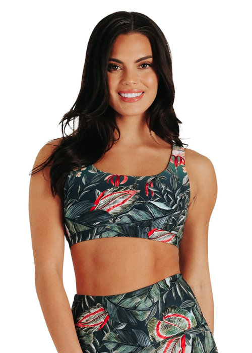 Yoga Democracy Yoga Democracy Every Day Sports Bra - Feeling Ferntastic