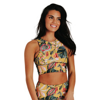Yoga Democracy Free Range Sports Bra - Curry Up