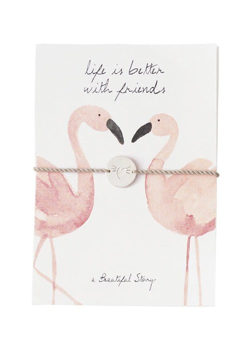 A Beautiful Story A Beautiful Story Sieraden Ansichtkaart - Flamingos
