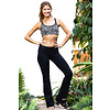 Funky Simplicity Funky Simplicity Flared Legging - Black