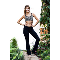 Funky Simplicity Flared Legging - Black