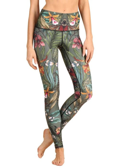 Yoga Democracy Yoga Democracy Yoga Legging - Green Thumb