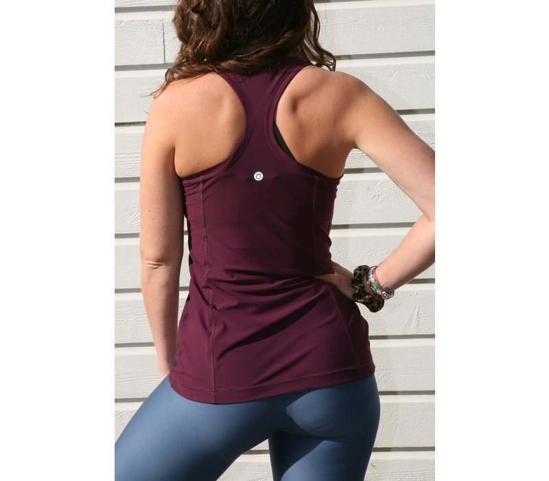 Tame The Bull Racerback Workout Top - Fig