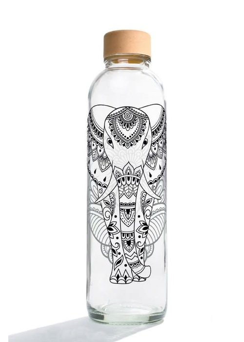 Carry Carry Glass Drinking Bottle 700ml - Elephant