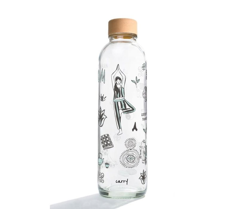 Carry Glazen Drinkfles 700ml - Namasté
