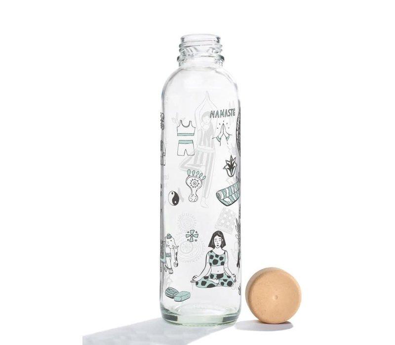 Carry Glass Drinking Bottle 700ml - Namasté