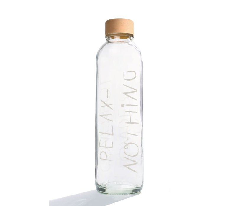 Carry Glass Drinking Bottle 700ml - Relax