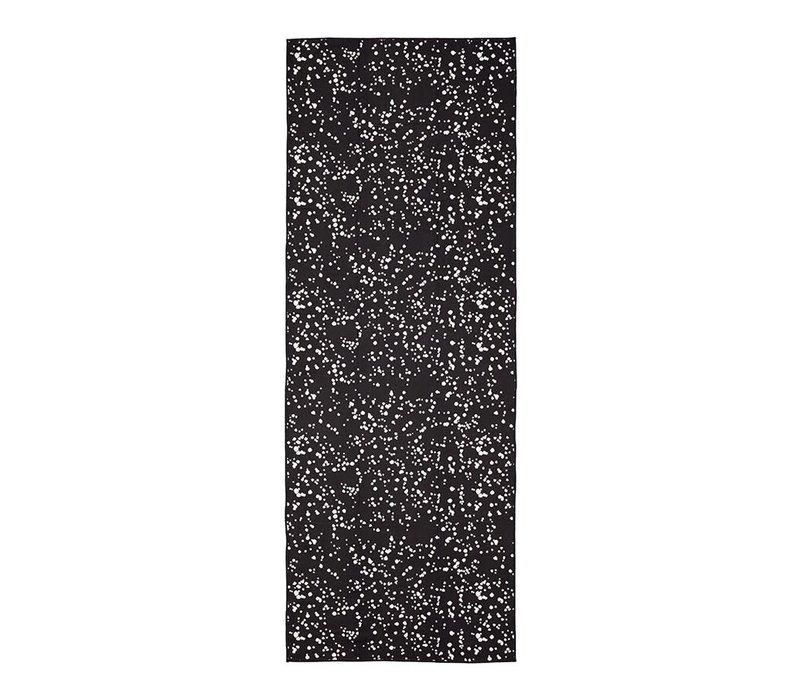 Manduka eQua Handdoek 182cm 67cm - Mini Dot Black