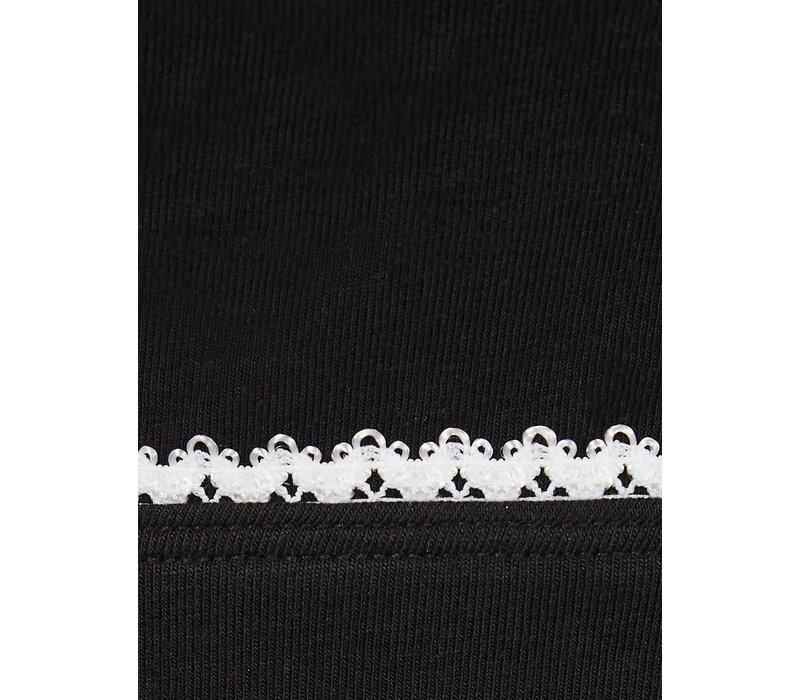 Mandala Ribbon Bra - Black