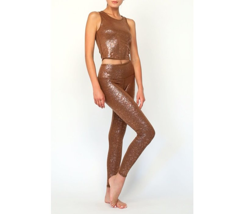 Mandala Sparkling Tights - Velvet Brown