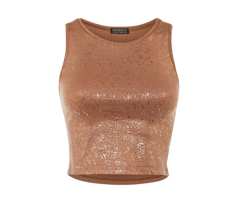 Mandala Sparkling Top - Velvet Brown
