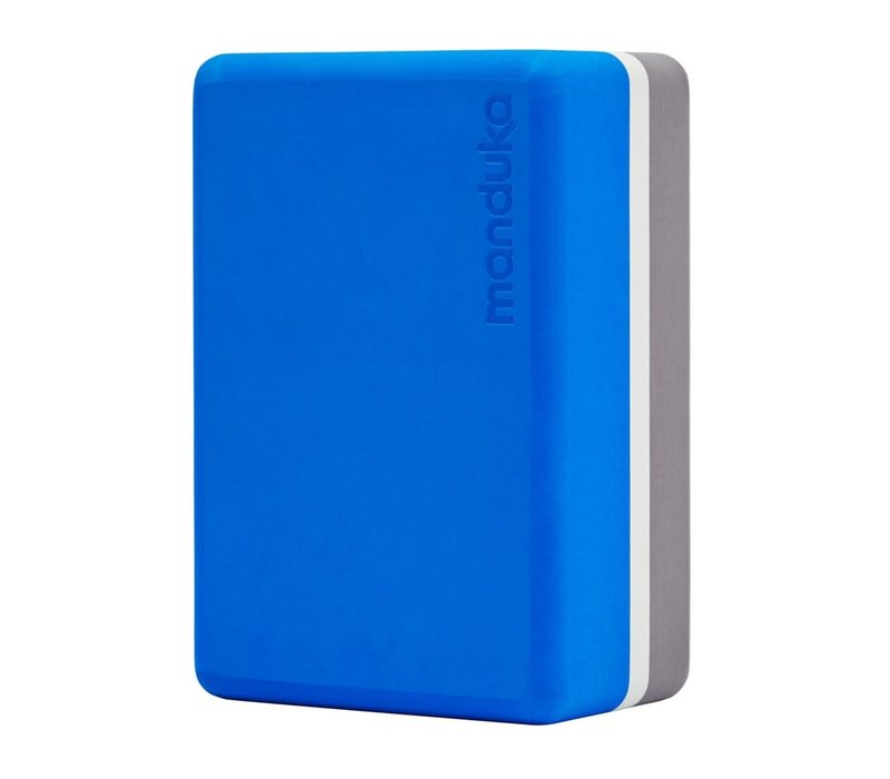 Manduka Recycelter Yoga Schaumblock - Be Bold Blue