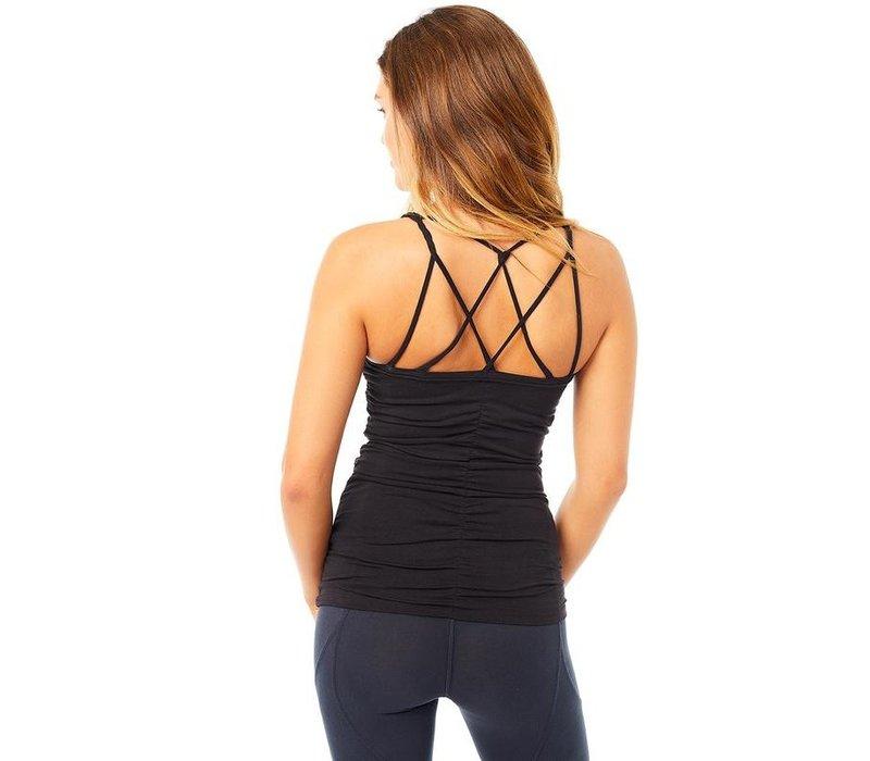 Mandala Cable Yoga Top - Black