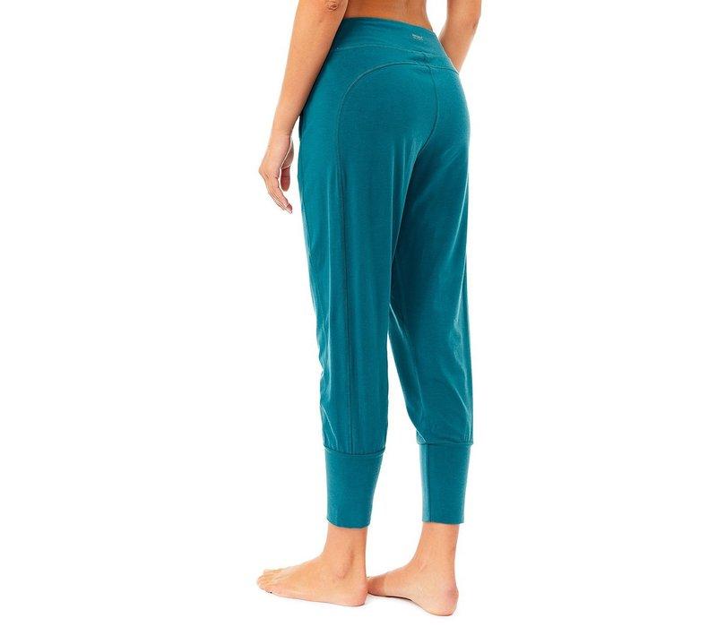 Mandala Cropped Pants - Tropical Green