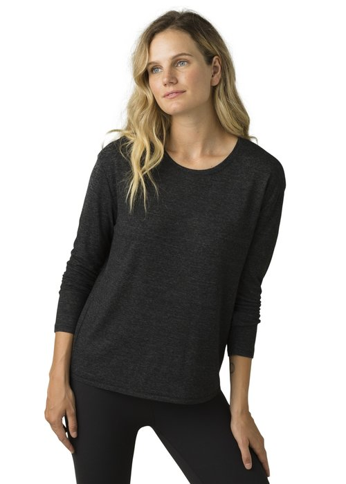 PrAna PrAna Cozy Up Long Sleeve Tee - Charcoal Heather