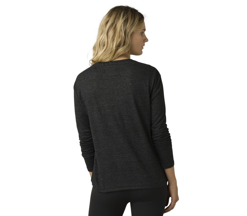 PrAna Cozy Up Long Sleeve Tee - Charcoal Heather