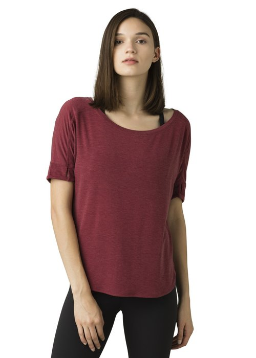 PrAna PrAna Rogue Short Sleeve Top - Spiced Wine