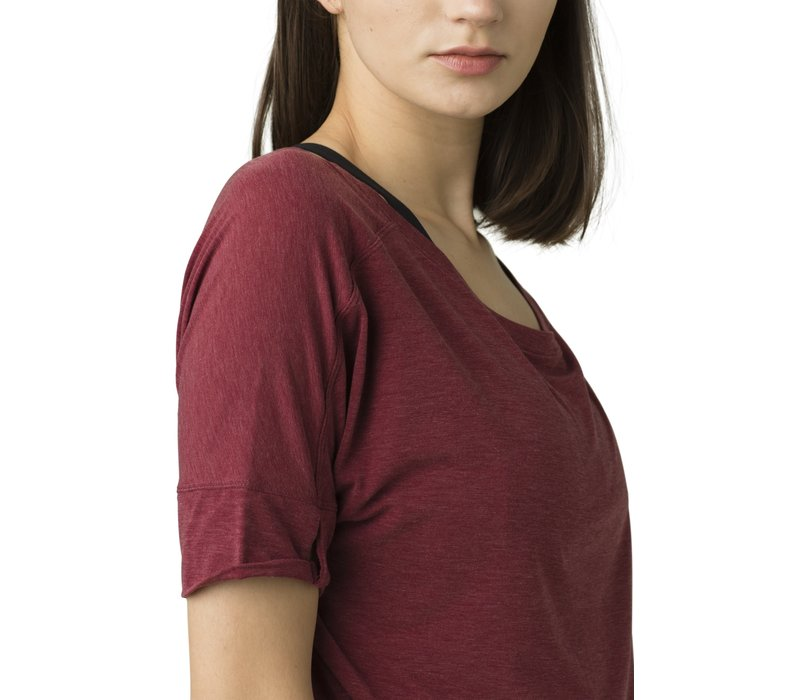 PrAna Rogue Short Sleeve Top - Spiced Wine