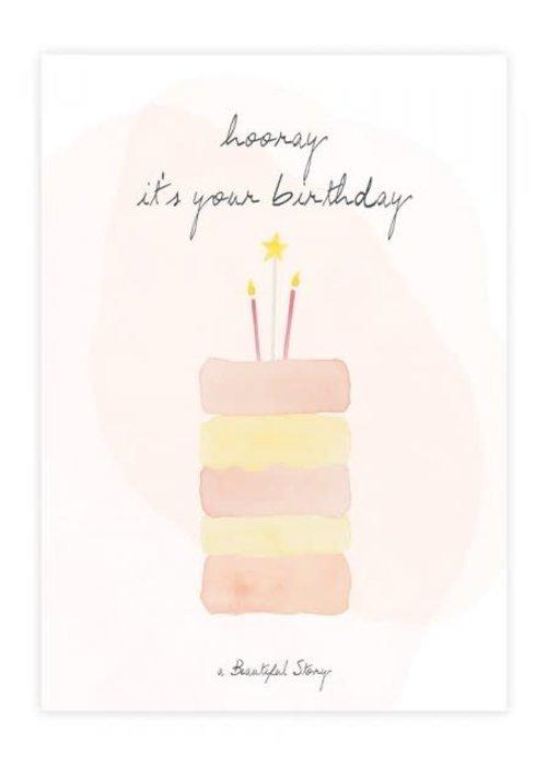 A Beautiful Story A Beautiful Story Greeting Card - Cake Watercolour