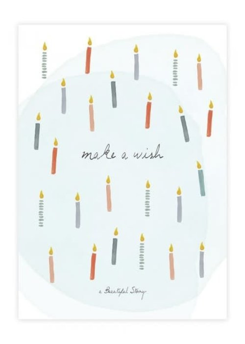 A Beautiful Story A Beautiful Story Greeting Card - Candles Watercolour